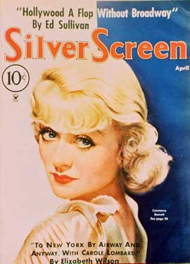 Constance Bennett - 27 x 40 Movie Poster - Silver Screen Magazine Cover 1930's Style A