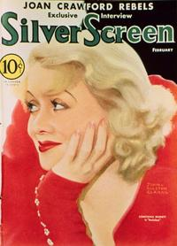 Constance Bennett - 27 x 40 Movie Poster - Silver Screen Magazine Cover 1930's Style B