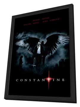 Constantine - 27 x 40 Movie Poster - Brazilian Style B - in Deluxe Wood Frame