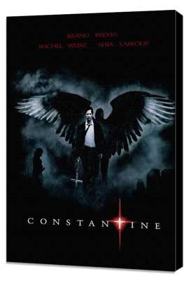 Constantine - 27 x 40 Movie Poster - Brazilian Style B - Museum Wrapped Canvas