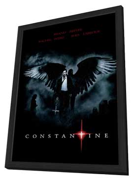 Constantine - 11 x 17 Movie Poster - Brazilian Style B - in Deluxe Wood Frame