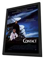 Contact - 27 x 40 Movie Poster - Style A - in Deluxe Wood Frame