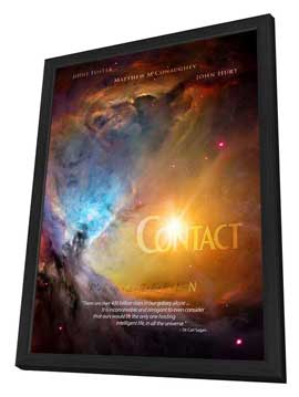 Contact - 11 x 17 Movie Poster - Style C - in Deluxe Wood Frame