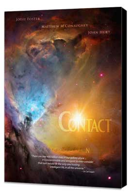 Contact - 11 x 17 Movie Poster - Style C - Museum Wrapped Canvas