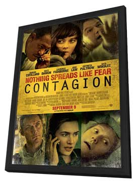 Contagion - 27 x 40 Movie Poster - Style G - in Deluxe Wood Frame