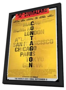 Contagion - 11 x 17 Movie Poster - Style A - in Deluxe Wood Frame