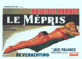 Contempt - 14 x 22 Movie Poster - Belgian Style A