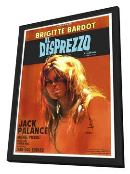 Contempt - 27 x 40 Movie Poster - Italian Style A - in Deluxe Wood Frame
