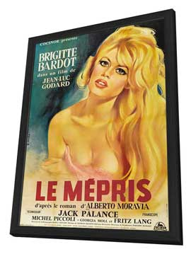 Contempt - 27 x 40 Movie Poster - French Style A - in Deluxe Wood Frame