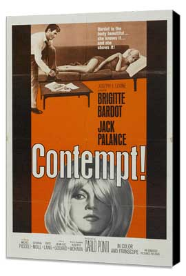 Contempt - 27 x 40 Movie Poster - Style B - Museum Wrapped Canvas