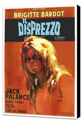 Contempt - 27 x 40 Movie Poster - Italian Style A - Museum Wrapped Canvas