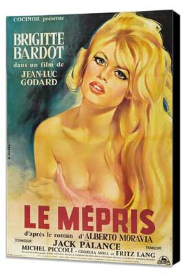 Contempt - 27 x 40 Movie Poster - French Style A - Museum Wrapped Canvas
