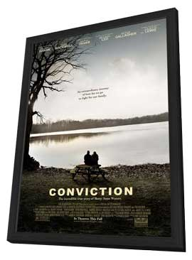 Conviction - 11 x 17 Movie Poster - Style A - in Deluxe Wood Frame