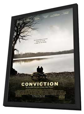 Conviction - 27 x 40 Movie Poster - Style A - in Deluxe Wood Frame