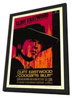 Coogan's Bluff - 27 x 40 Movie Poster - Style A - in Deluxe Wood Frame