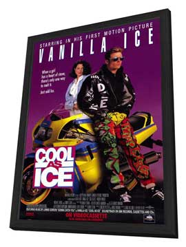 Cool As Ice - 11 x 17 Movie Poster - Style B - in Deluxe Wood Frame