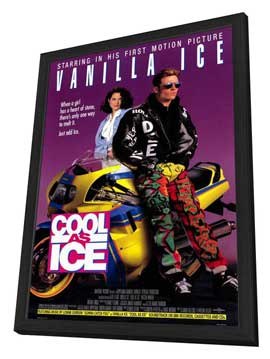 Cool As Ice - 27 x 40 Movie Poster - Style A - in Deluxe Wood Frame