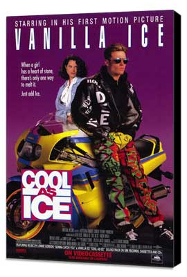 Cool As Ice - 11 x 17 Movie Poster - Style B - Museum Wrapped Canvas