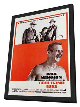 Cool Hand Luke - 11 x 17 Movie Poster - Style C - in Deluxe Wood Frame