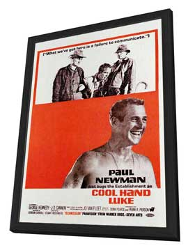 Cool Hand Luke - 27 x 40 Movie Poster - Style C - in Deluxe Wood Frame