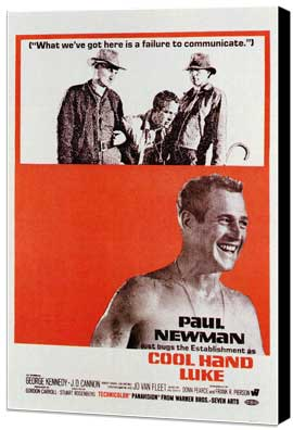 Cool Hand Luke - 11 x 17 Movie Poster - Style C - Museum Wrapped Canvas