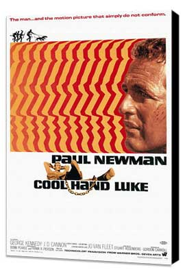 Cool Hand Luke - 27 x 40 Movie Poster - Style A - Museum Wrapped Canvas