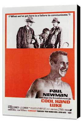 Cool Hand Luke - 27 x 40 Movie Poster - Style C - Museum Wrapped Canvas