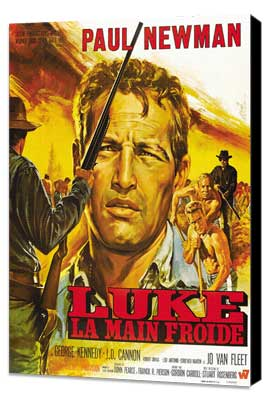Cool Hand Luke - 27 x 40 Movie Poster - French Style D - Museum Wrapped Canvas