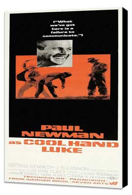 Cool Hand Luke - 14 x 36 Movie Poster - Insert Style A - Museum Wrapped Canvas