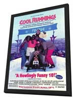 Cool Runnings - 27 x 40 Movie Poster - Style B - in Deluxe Wood Frame