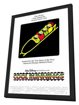 Cool Runnings - 27 x 40 Movie Poster - Style A - in Deluxe Wood Frame