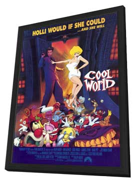 Cool World - 11 x 17 Movie Poster - Style B - in Deluxe Wood Frame