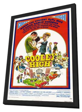 Cooley High - 11 x 17 Movie Poster - Style B - in Deluxe Wood Frame