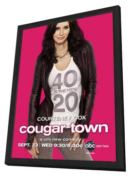 Cougar Town (TV) - 11 x 17 TV Poster - Style A - in Deluxe Wood Frame