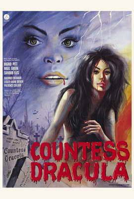 Countess Dracula - 27 x 40 Movie Poster - French Style A
