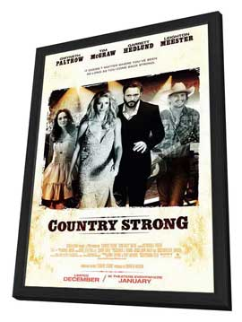 Country Strong - 11 x 17 Movie Poster - Style A - in Deluxe Wood Frame