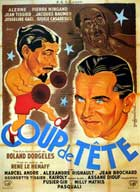 Coup de Tete - 11 x 17 Movie Poster - French Style A