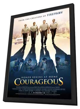 Courageous - 27 x 40 Movie Poster - Style A - in Deluxe Wood Frame