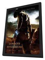Cowboys and Aliens - 27 x 40 Movie Poster - French Style A - in Deluxe Wood Frame