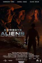 Cowboys and Aliens - 11 x 17 Movie Poster - Style J