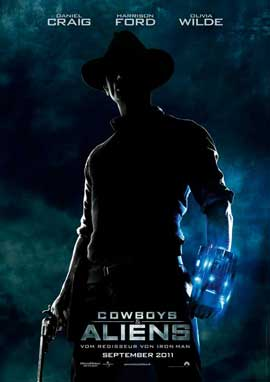 Cowboys and Aliens - 11 x 17 Movie Poster - German Style A