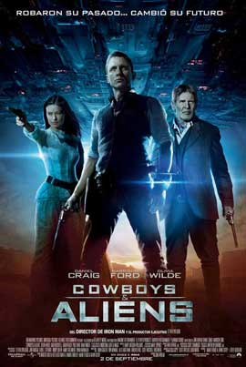 Cowboys and Aliens - 11 x 17 Movie Poster - Spanish Style B