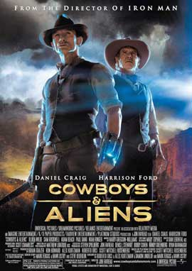 Cowboys and Aliens - 11 x 17 Movie Poster - Style H