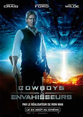 Cowboys and Aliens - 11 x 17 Movie Poster - French Style C