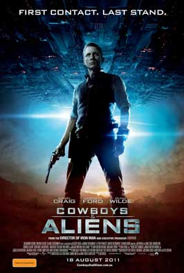 Cowboys and Aliens - 11 x 17 Movie Poster - Australian Style B