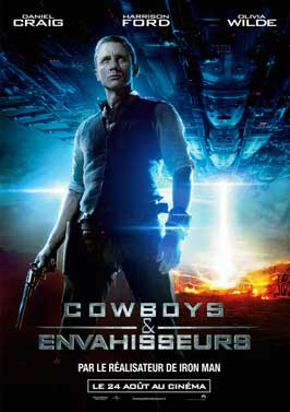 Cowboys and Aliens - 11 x 17 Movie Poster - French Style G