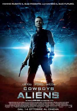 Cowboys and Aliens - 27 x 40 Movie Poster - Italian Style A