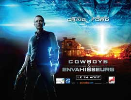 Cowboys and Aliens - 22 x 28 Movie Poster - French Style A