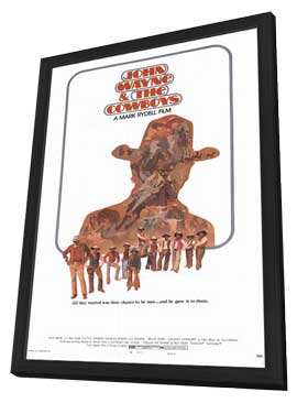 The Cowboys - 27 x 40 Movie Poster - Style C - in Deluxe Wood Frame