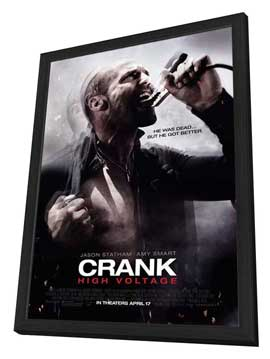 Crank 2: High Voltage - 27 x 40 Movie Poster - Style B - in Deluxe Wood Frame